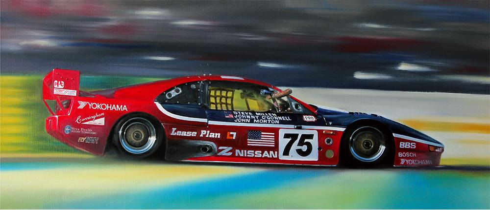 <p>1994 LeMans, 24 Hours - Fourth overall and a class win. Nissan 300ZX GT<br /> Original oil painting.</p>