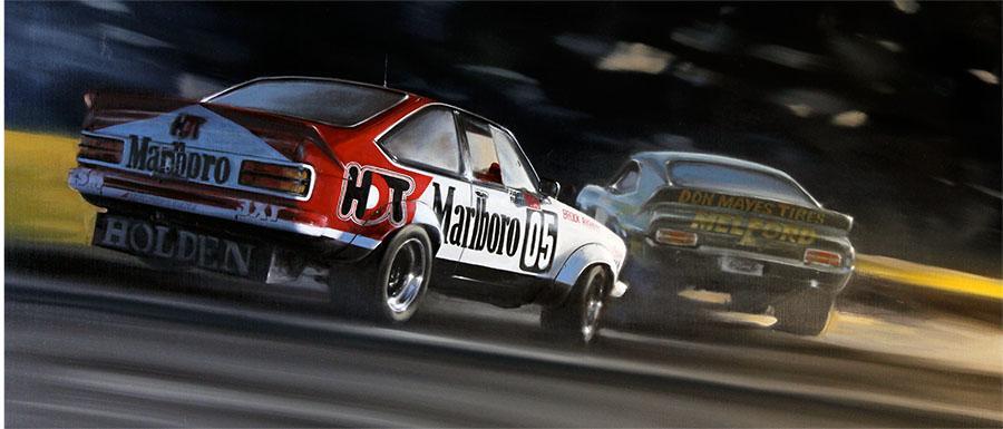 <p>Holden Torana A9X SS. 1979 Hardie-Ferodo 1000<br /> Original oil painting.</p>