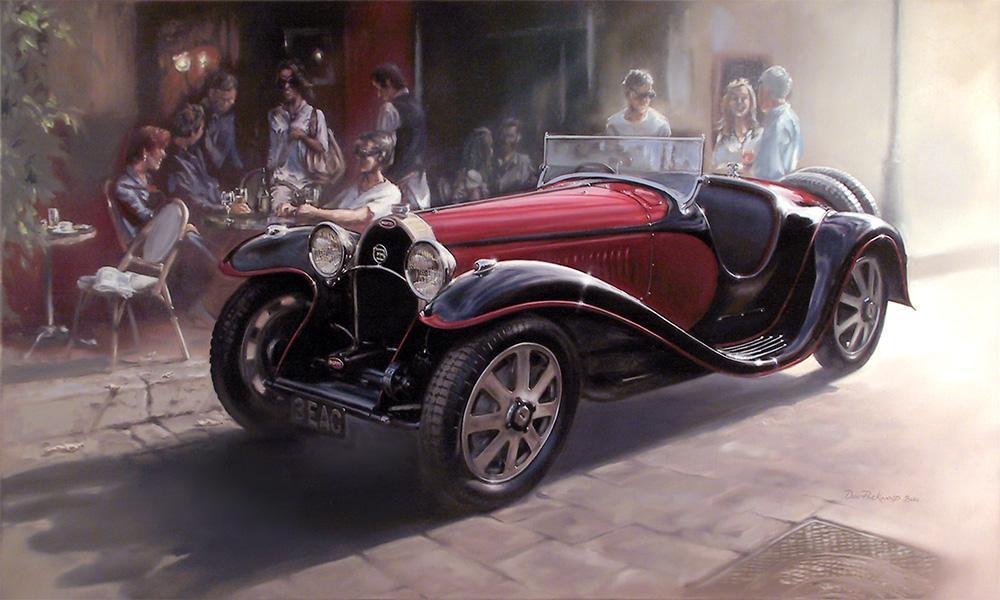 <p>Bugatti Type 55 Super Sport - 1932 - 1935<br /> Original Oil Painting.</p>