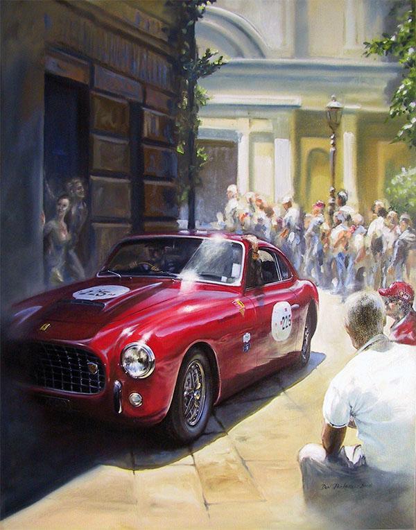 <p>1951 Ferrari 212E<br /> Original Oil Painting.</p>